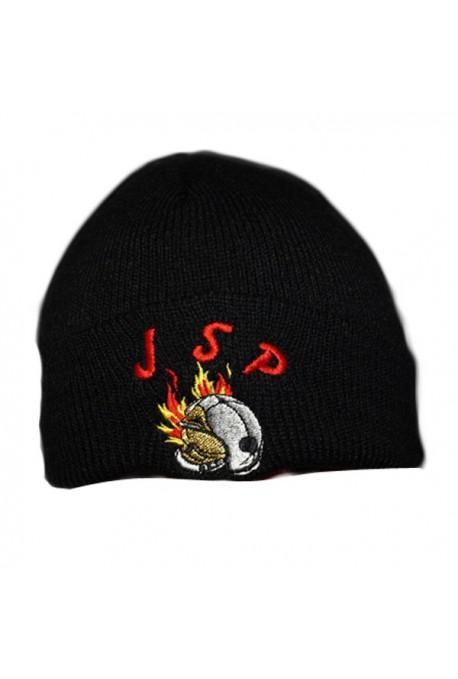 Bonnet noir brodé JSP