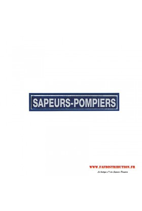 Barrette fluo marine SAPEURS POMPIERS